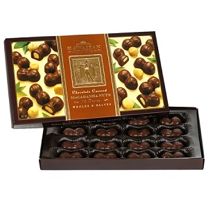 Chocolate Covered Macadamia Nuts Wholes & Halves 16 Pieces