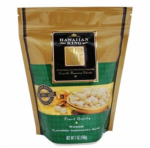 Wasabi Roasted Macadamia Nuts Pouch 7oz